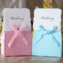 Customized Wedding Candy Gift Paper Box / Die-Cut Cardboard Box