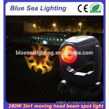 Robô osram 280W 10R 280 feixe spot wash 3 em 1 luz da cabeça em movimento