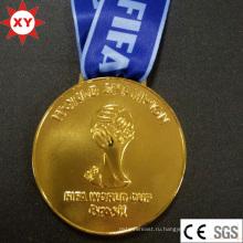 Медаль Бразилии золото чемпионата мира-2014 с лентой