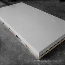 Feuille en plastique mince blanche de PVC rigide