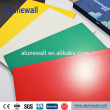 Alunewall 2 width PVDF Exterior Aluminum Composite Panel for 20 years guarantee