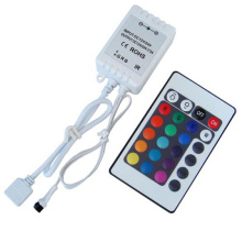 Mini 24key 12V 72W IR Remote RGB Colorful LED Controller