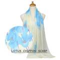 2017 summer woman solid color plian muslim chiffon hijab scarf shawl instant shawl chiffon hijab lotus scarf