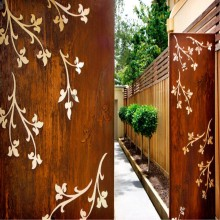 Corten Steel Outdoor Screens