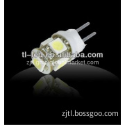 G4 LED Light 12V 5SMD 360D G4 Auto Light LED