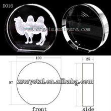 Image souterraine de laser de K9 3D à l'intérieur du disque en cristal