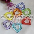 35*38MM Transparent Colors China Heart Beads Wholesale