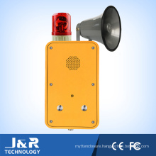 Handsfree Weatherproof Telephone with Horn/Beacon, Outdoor Broadcasting Telephone