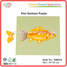 Montessori Animal - Fish Skeleton Puzzle