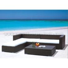 Mobília do Rattan ao ar livre
