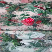 Impresso do laço / malha de tecido para vestuário e têxteis-lar