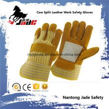 Luva de trabalho de segurança industrial em pele de couro Brown Cowhide