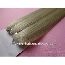 Usine prix 100% cheveux humains frêne cheveux blonds trames à Qingdao