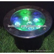 La vente chaude a conduit des lampes souterraines RVB 9W IP68