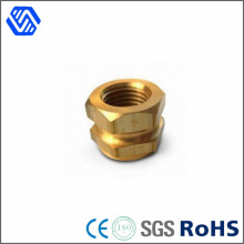 Raccord personnalisé CNC Precision Hex Nut Special Coupling Brass Barrel Nuts