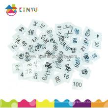 Telhas transparentes do número da matemática do plástico (K030)