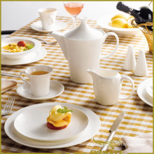 10 PCS Ceramic Tableware Free Circular Lines Series