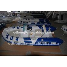 China inflable nuevo de fibra de vidrio barco casco rígido de fibra de vidrio inflable barco de la costilla