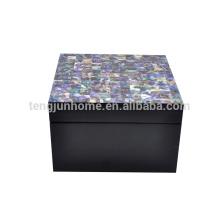 CPA-BPSBS Nouvelle Zélande Paua Shell Boîte à bijoux avec Black Paint Square