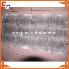 Plaque de fourrure de lapin gris Chinchilla en gros usine chinoise