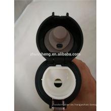 nueva moda precio bajo BPA libre colorido doble pared acero inoxidable por mayor de termo con botón