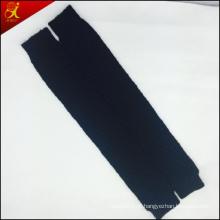 Inverno negro tricô polainas