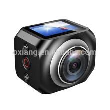 Venta de la fábrica directamente cámara de rotación de 360 grados 1440P / 30fps cámara de acción deportiva 12MP Wifi reloj de control remoto cámara de vídeo