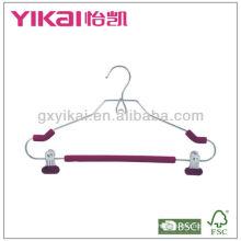 Percha de espuma EVA con clips metálicos