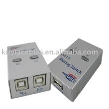 Interruptor de intercambio USB 2.0 Interruptor USB 2 PC a 1 impresora / escáner