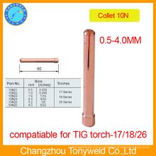 Медь TIG сварки частей горелки цанговый 10Н serise