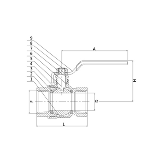 ball valve 2035 drawing