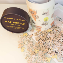 Paper Tube Packaging For Jigsaw Puzzles