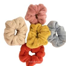 Chouchous kegatalan rambut Immitation Rabbit Bunny Fur Plush Thick Scrunchies Autumn Winter Elastic Hair Band Rubber for Girl Women Bun Tie Hair Accessori