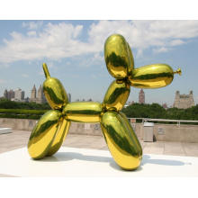 Outdoor Large Stainless Steel Balloon Dog Statue