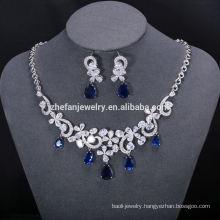 high quality jewelry set cz necklace for wedding bold necklace set