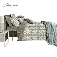 100% Polyester Embroidery Luxury Home Linen Bedding Set