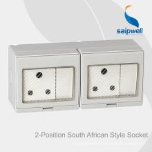 Saipwell High Quality Interrupteur et sortie étanches à montage en surface pour l'Afrique du Sud
