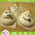 Le papier de parchemin de 4 pouces écarte la feuille de papier de cuire à la vapeur de nourriture antiadhésive