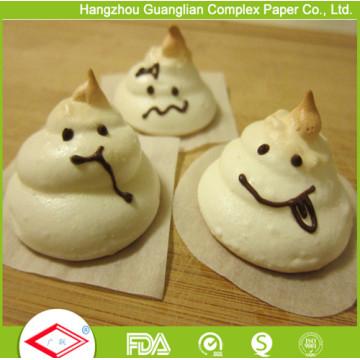 Folha de papel cozinhando da comida da Non-Vara dos quadrados do papel de pergaminho de 4 polegadas