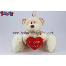 China Fabriced Big Feet Teddy Bear brinquedo com coração vermelho Bos1118