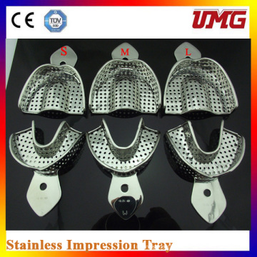Dental Autoclavável em aço inoxidável bandeja de impressão perfurada / Dental Instrument