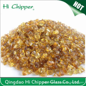 Lanscaping Glass Sand Crushed Dark Amber Glass Chips Decorative Glass