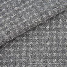 tela elástica tejida de lana de punto de lana de poliéster