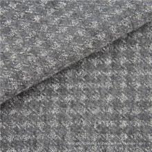 Tissu tricoté en laine et polyester