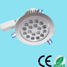 Top sale 85-265V 12-24V 1-36w 18w led ceiling light (dimmable)