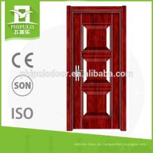 Puertas ignífugas de madera de gran demanda para productos de exportación de puertas ignífugas.