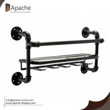 High Efficiency Factory for Wine Display Stand Industrial Metal Wall Mounted Wine Display Rack export to Virgin Islands (British) Exporter
