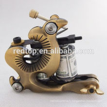 Black silver10 Wrap Coils Manuel Tattoo Machine Liner Shader Gun