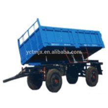 Reboque agrícola / reboque basculante para tractor, reboque tractor agrícola para máquina, 5 Ton tractor