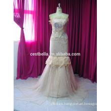 Estilo de Dubai blanco más tamaño vestido de boda musulmán